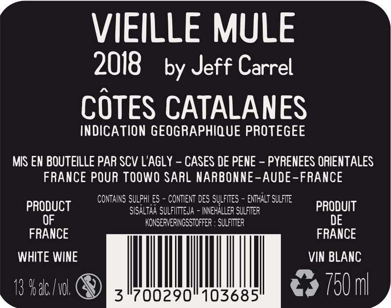 Vieille Mule by Jeff Carrel contre Etiquette