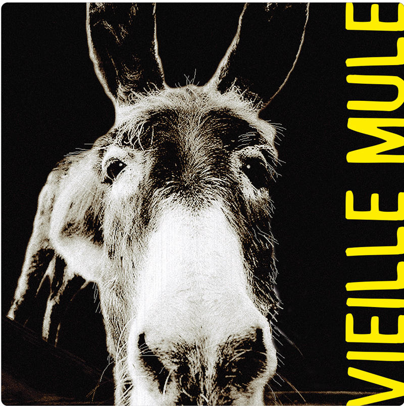 Vieille Mule vin blanc by Jeff Carrel Etiquette