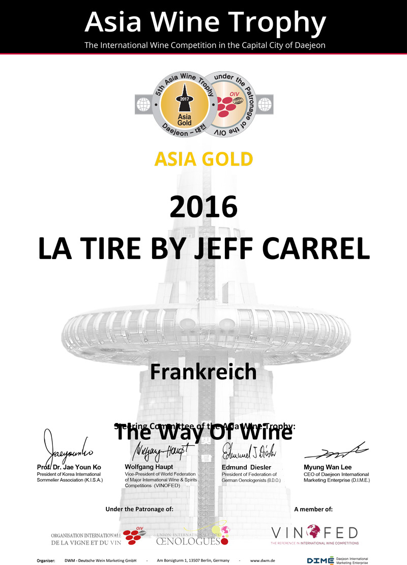Asia Wine Trophy 2017 Medaille Or La Tire By Jeff Carrel 16